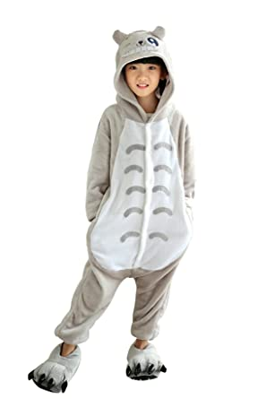 05bf47976453 Amazon.com  Kid s Unisex Fleece Onesie Pajamas Animal Cosplay ...