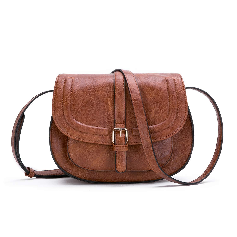 AFKOMST Crossbody Bags for Women Small Saddle Purse and Satchel Handbags Lightweight