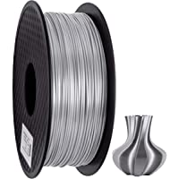 PLA Filament 1.75mm Silk, Geeetech 3D Printer PLA Filament,1.75mm,1kg per Spool,Silk Silver