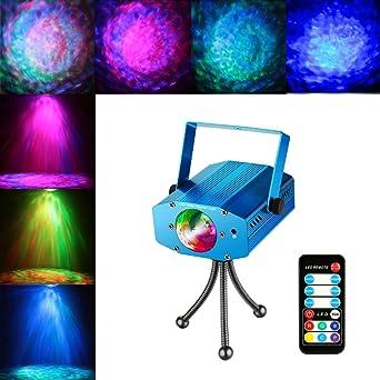 coidea LED Iluminación de discoteca – Proyector de luz 9 W 7 ...