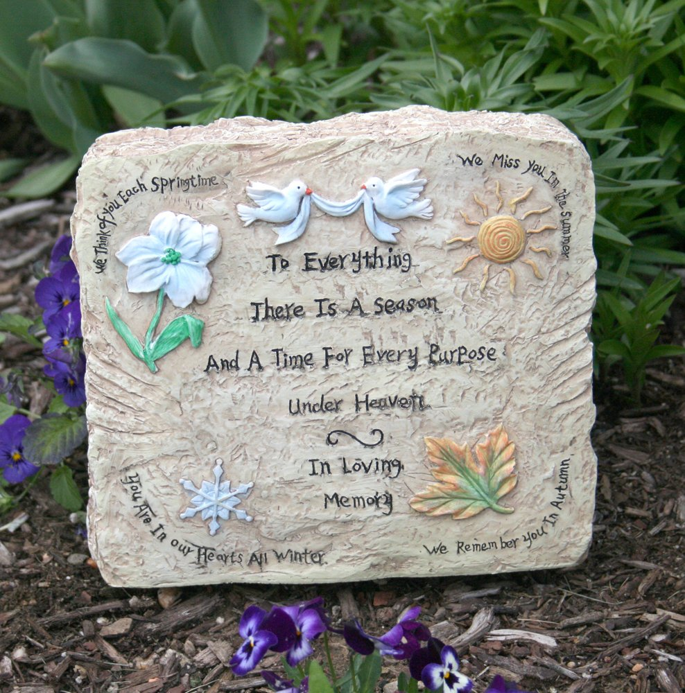 Exceptionnel Amazon.com : Memorial Garden Plaque   In Loving Memory Message Engraved On  This Decorative Garden Rock   Bereavement Stepping Stone   In Loving Memory  Gift ...