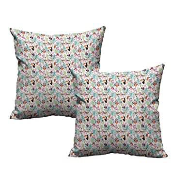 Amazon.com: Tropical,2pc Set of Pillow Cases Exotic Birds ...