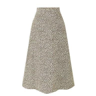 TOPKEAL Moda Falda Casual Mujer Elasticidad Cintura Alta Split ...