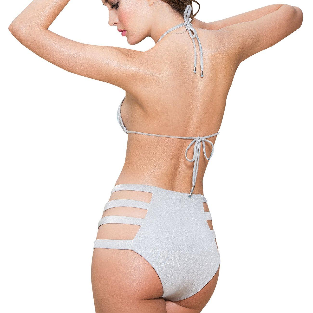 898e7af441 Amazon.com: Mapale High-Waist Cut-Out Bikini Bottom: Clothing