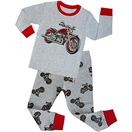 Amazon Com Tinaflower Motorcycle Little Boys 2 Piece Long Sleeve