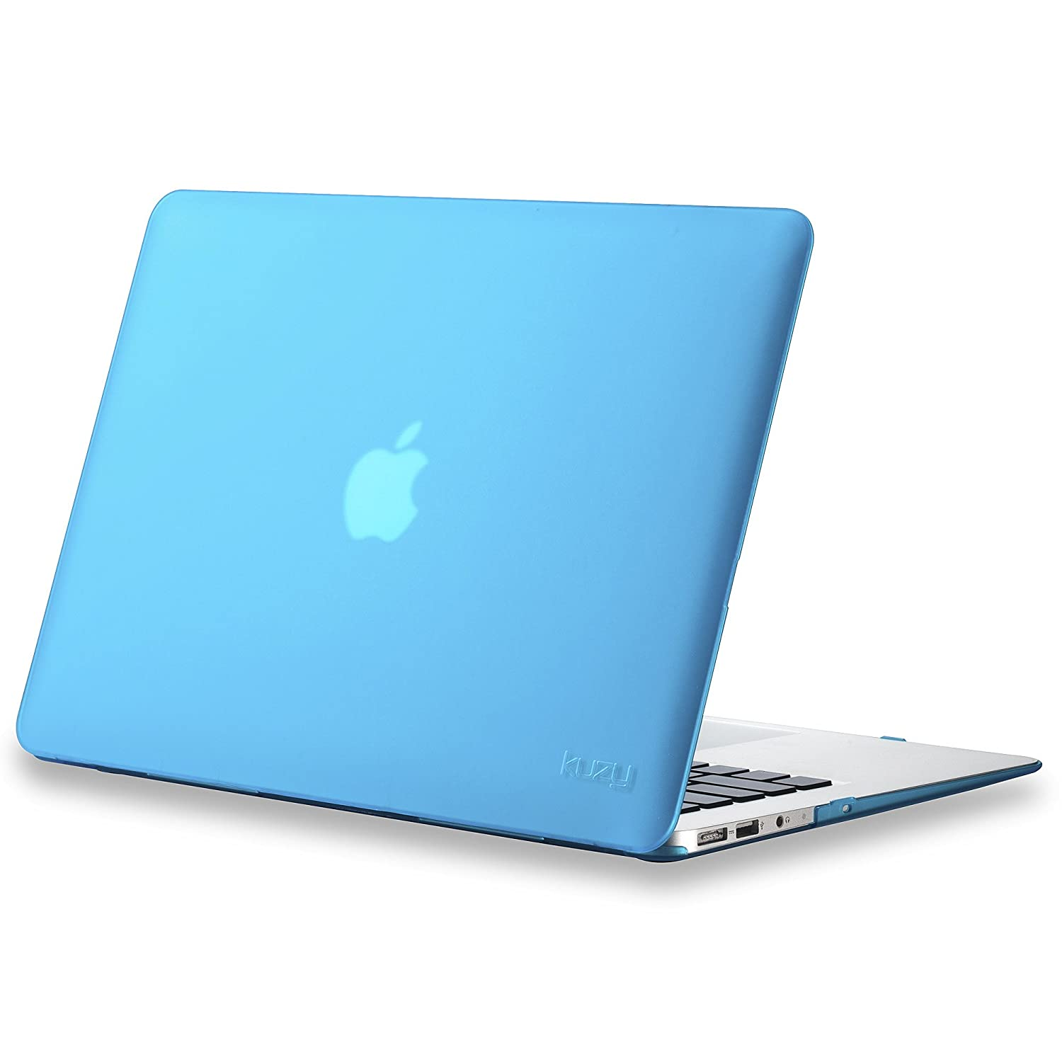 """Amazon Kuzy AIR 13 inch Rubberized Hard Case for MacBook Air 13 3"""" A1466 & A1369 NEWEST VERSION Shell Cover Aqua Blue puters & Accessories"""