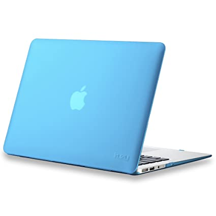 best service cab0b a9bd6 Kuzy MacBook Air 13 inch Case A1466 A1369 Soft Touch Cover for Older  Version 2017, 2016, 2015 Hard Shell - Aqua