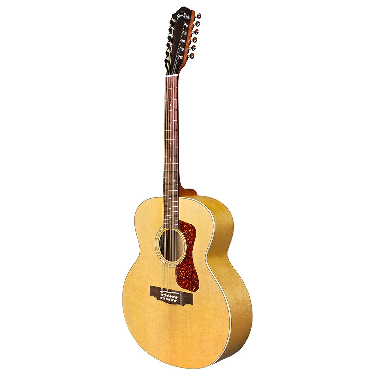 guild f 2512e acoustic electric guitar in natural