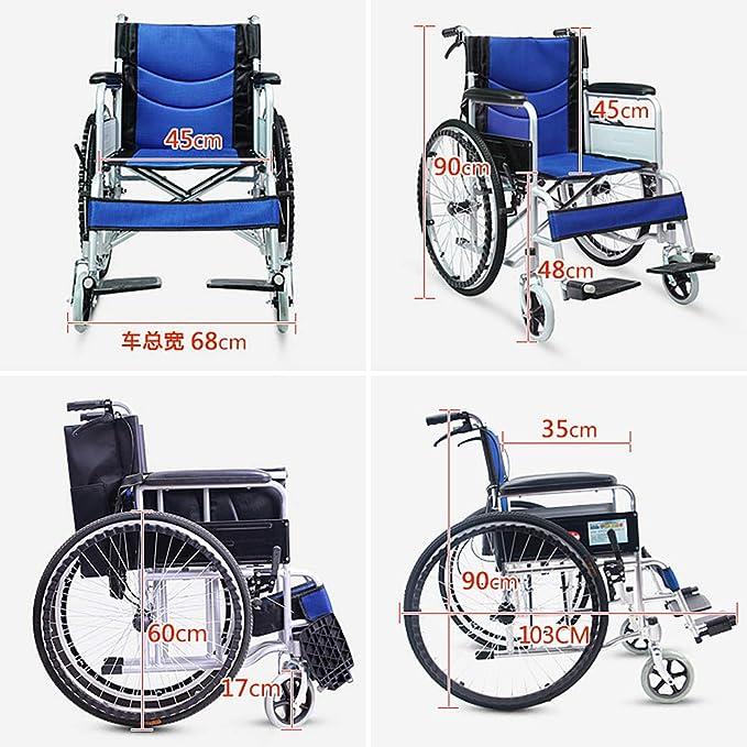 Amazon.com: Sillón de ruedas antidecubitus, silla de ruedas ...