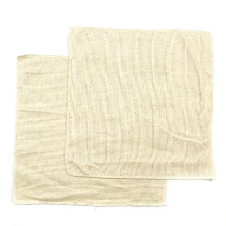 Wool Queen 2 Pieces Linen Needlework Fabric, Monk's Cloth 11''x11'' for  Rug-Punch & Pinch Needle