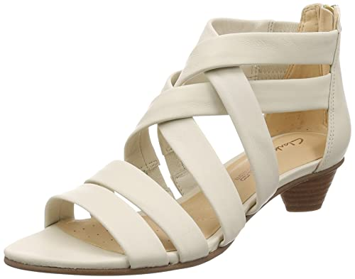 51d0a12d7523 Clarks Women s MENA Silk White Leather Fashion Sandals-3.5 UK India (36 EU