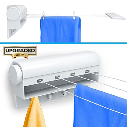Amazoncom Gideon Indoor 4 Line Laundry Retractable Clothesline