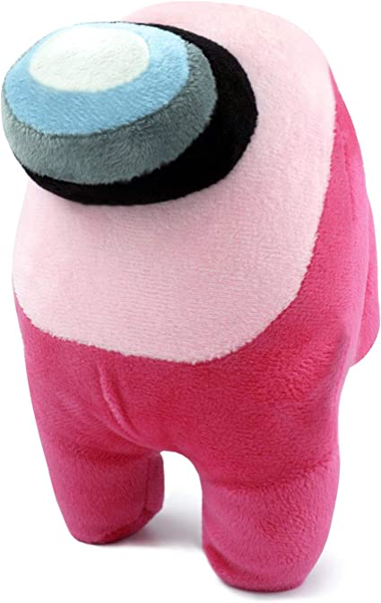 Amazon Com Among Us Crewmate Stuffed Plush Toy Pink 8 Inch Medium Sized Doll Cute Soft Bulging Eyes Astronaut Figure Merch Plushies Gifts For Game Fans Stuffed Figures