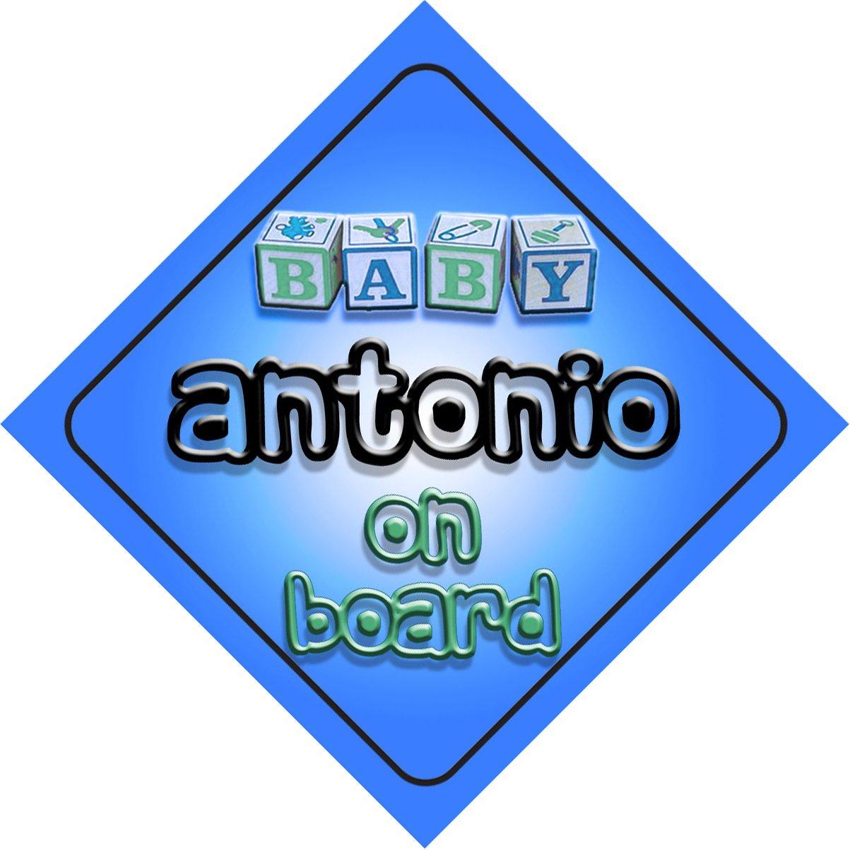 Bébé Garçon Antonio on Board fantaisie Panneau de voiture Cadeau/cadeau pour nouveau/enfant nouveau-né