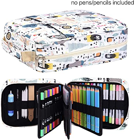 150 Slots Big Large Watercolor Pencil Case Holder Storage for Colored Pencils