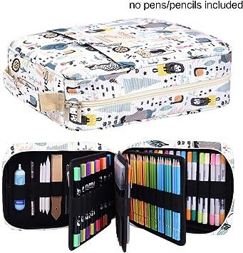 qianshan 202 Colored Pencils Pencil Case//136 color gel pens Pen Bag//Marker
