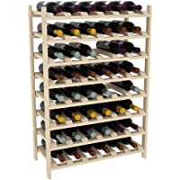 "48 Bottle Modular Wine Shelves by VinoGrotto, 12"" Deep (Choose Pine or Redwood)"