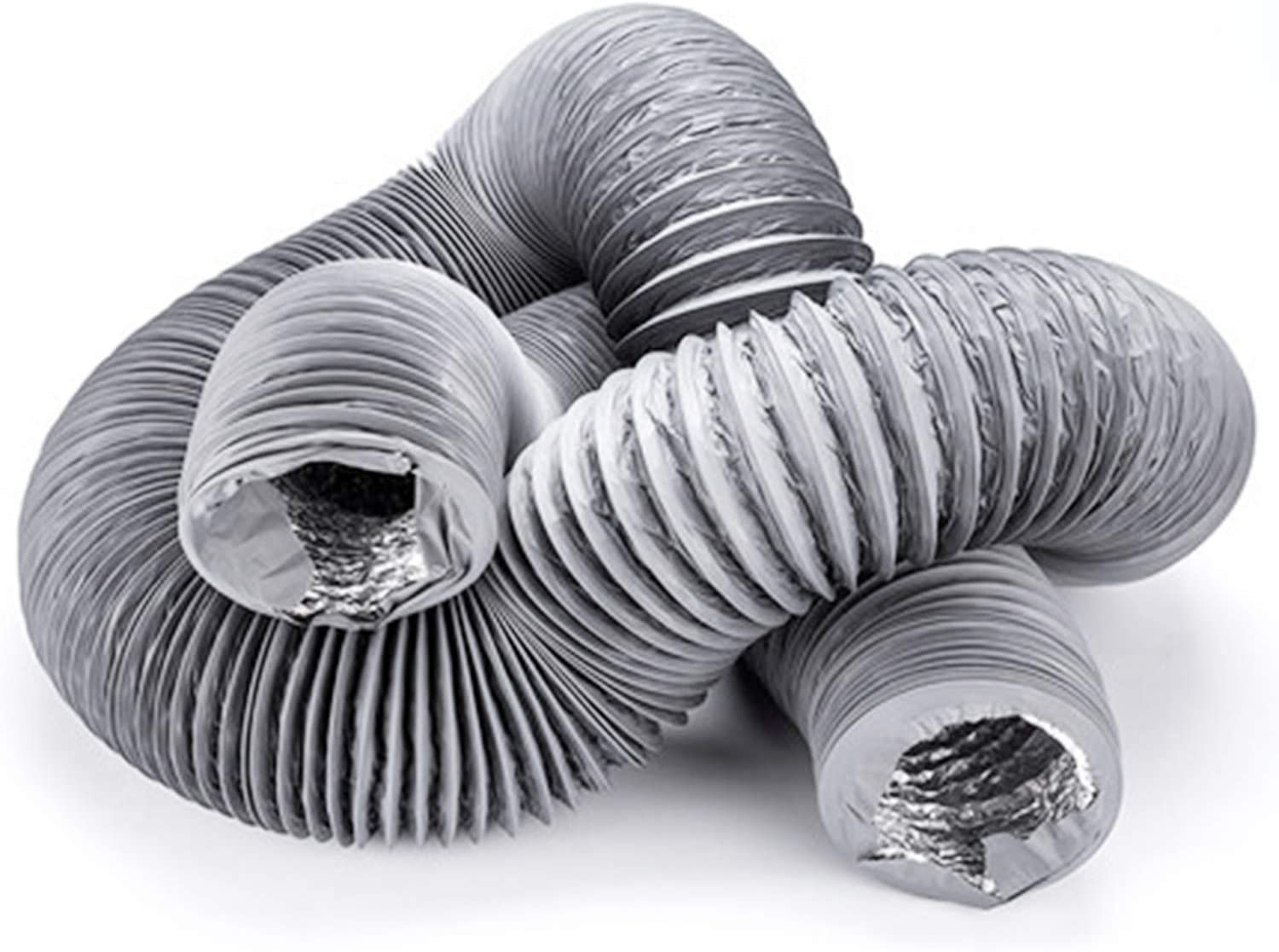 Hon&Guan 3 inch Air Duct - 16 FT Long, Flexible Ducting HVAC Ventilation Air Hose for Grow Tents, Dryer Rooms,Kitchen