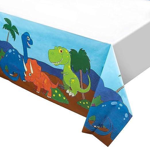 Amazon.com: Mantel de plástico con diseño de dinosaurio, 54 ...