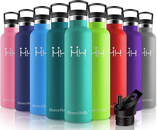 Coldest Water Bottle with Straw Stainless Steel BPA Free Dishwasher Safe Sports