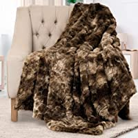Faux Fur Throw Blankets - Super Soft Fuzzy Sherpa Blankets for Sofa, Couch and Bed - Plush Fluffy Fleece Blankets…