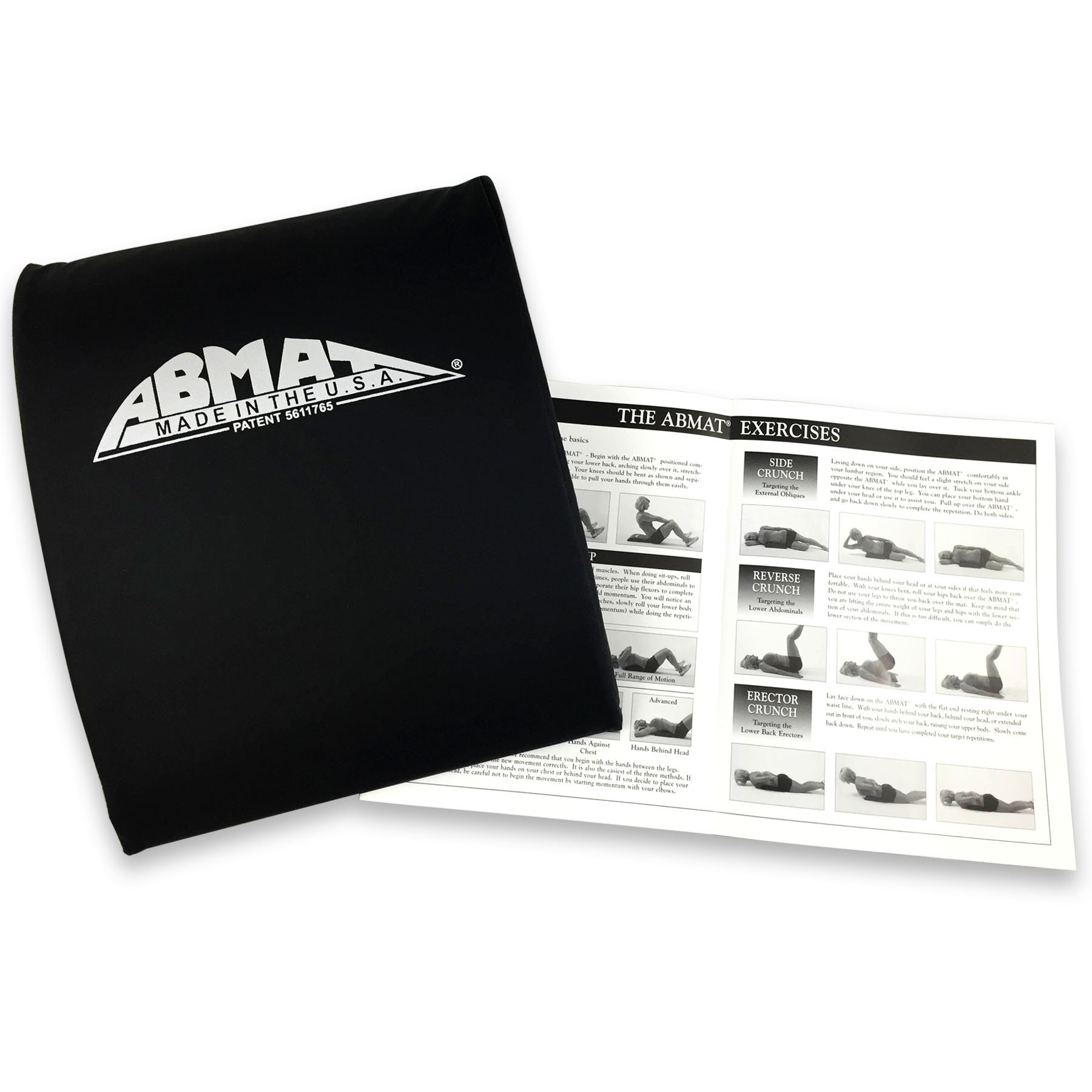 AbMat The Original Abdominal Trainer Works Entire Abdominal Muscle Group for Complete AB Workouts, Black