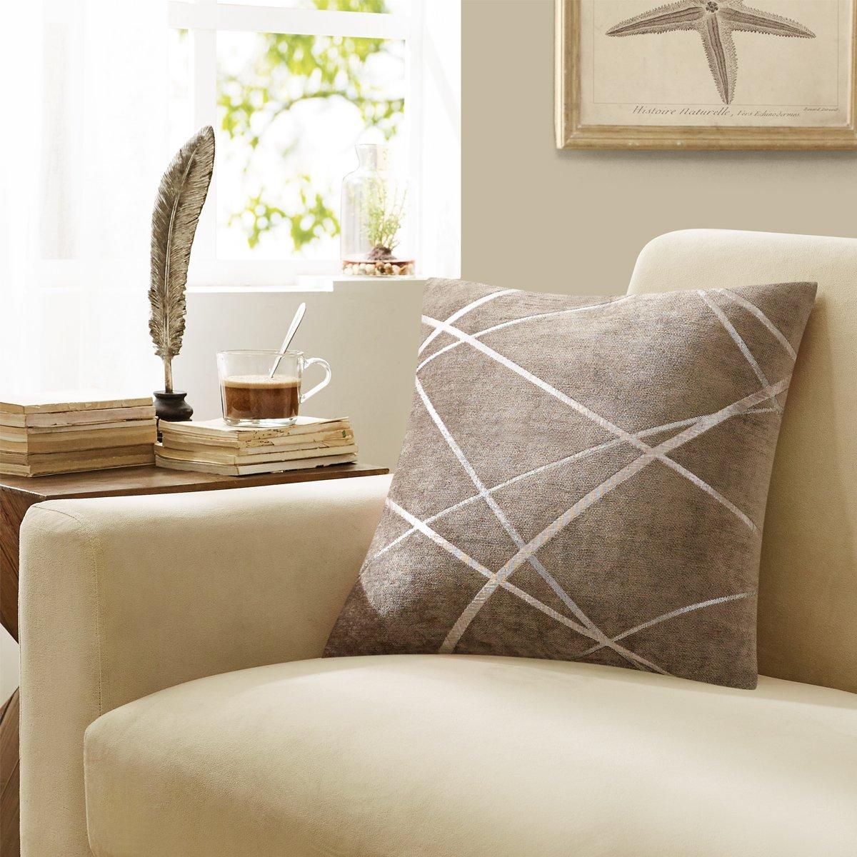 HONBAY Sofa Seat Cushion Fully Expanded Cushion Washable Fabric Seat Cushion Beige