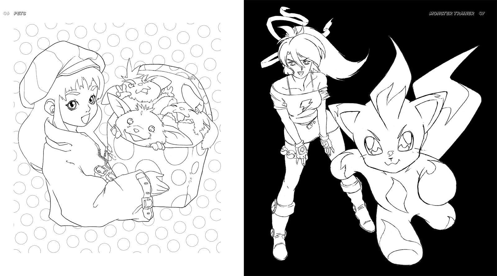 Color Manga: The Monster Manga Coloring Book: Estudio Joso, Ikari ...