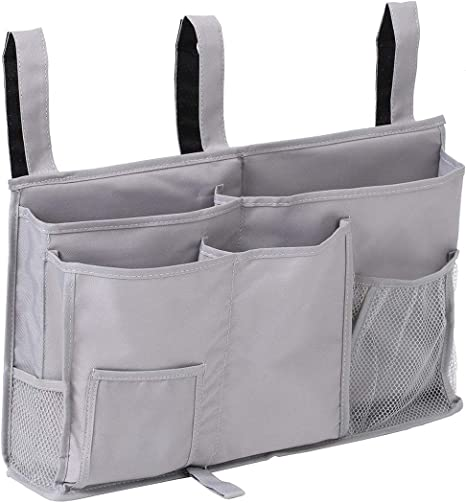 Bedside Caddy Hanging Bed Organizer Storage Bag Pocket for Dorm Rooms Rails