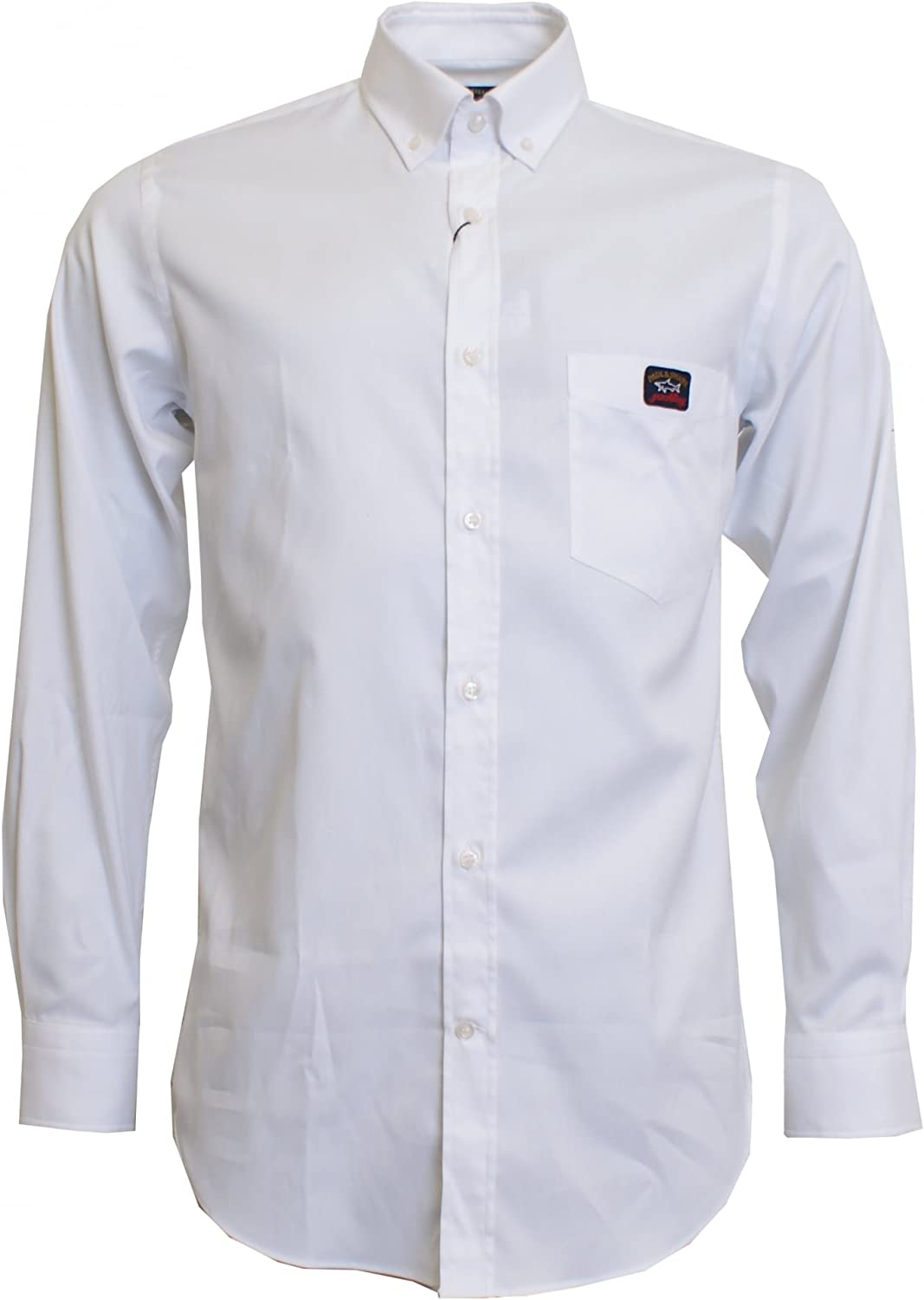 PAUL & SHARK Regular fit Larga Camisa Oxford Manga Blanco 43 - X Large: Amazon.es: Ropa y accesorios