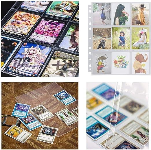 Fundas para Cartas Almacenamiento Colección,Álbumes para Cartas Transparente,Páginas del álbum de cartas,Fundas de Tarjetas de Juego Transparentes,fundas para cartas de juegos (30 piezas): Amazon.es: Juguetes y juegos