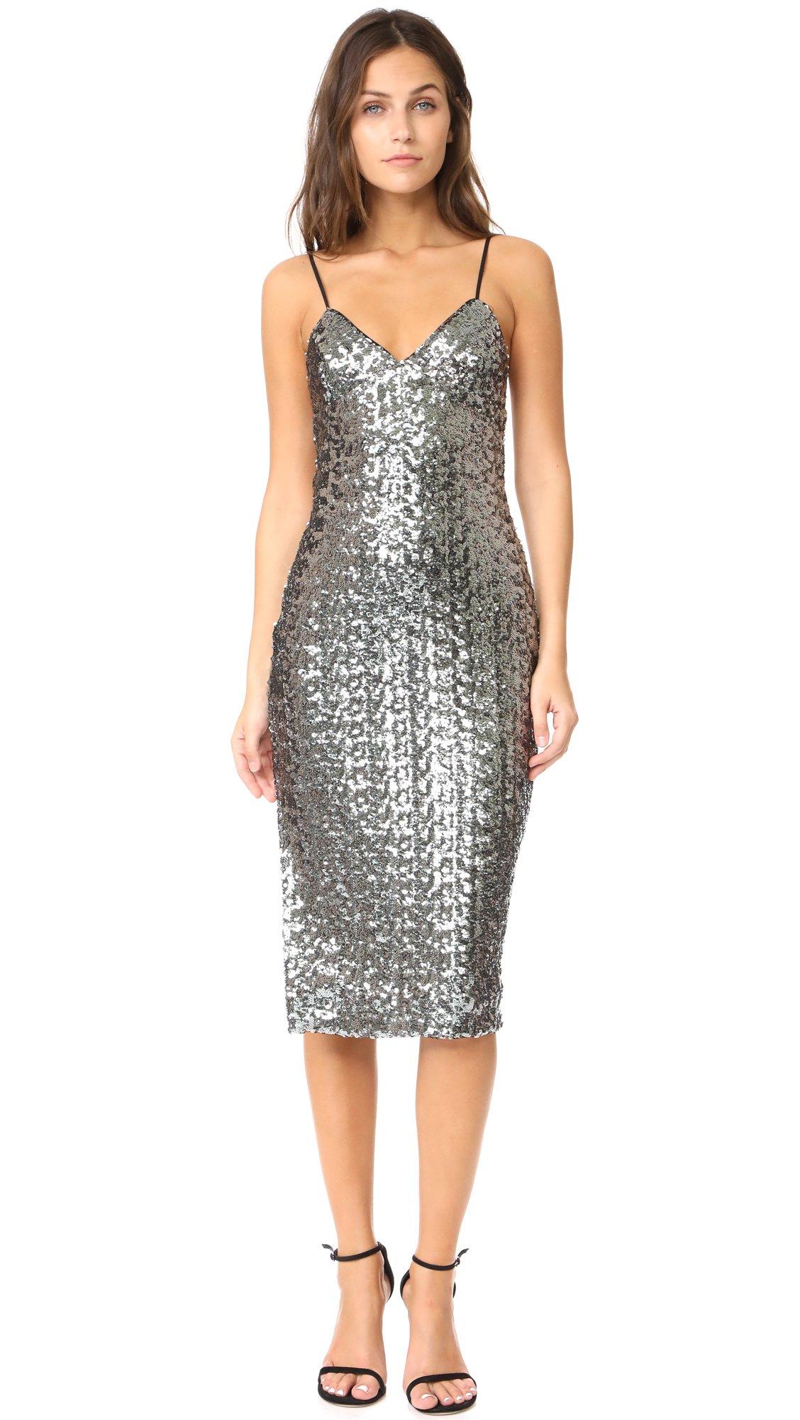 Milly Women's Sea Glass Alexis Dress, Gunmetal, 0 by MILLY