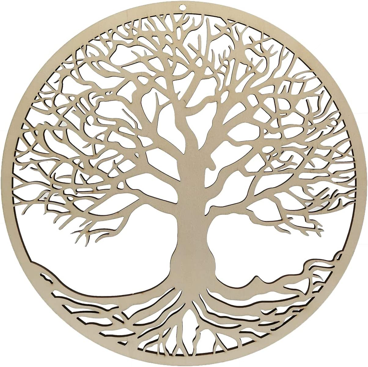 EONBES Tree of Life Wall Art Wall Hanging, Yoga Decor, Wooden, 11 Inches