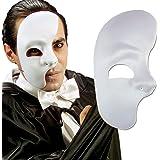 Media máscara de fantasma de la ópera antifaz medio rostro carnaval