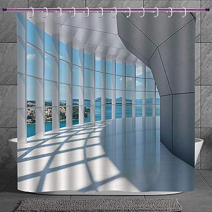Amazon com: SCOCICI Unique Shower Curtain 2 0 [ White Decor