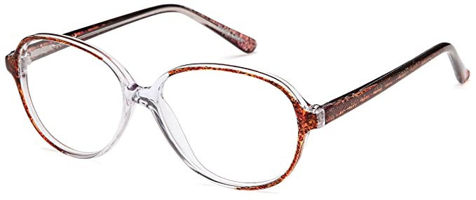 decf905ee8e5 Amazon.com  Womens Oval Glasses Frames Brown Prescription Eyeglasses ...