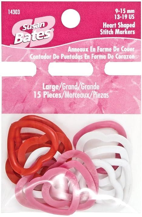 Amazon.com: Susan Bates Heart Shape Stitch Marker, Large, 15 Per ...