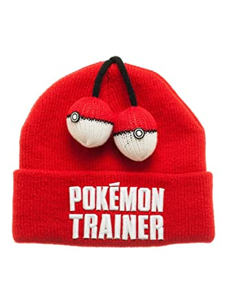 cc44a16281a8b6 Pokemon - Trainer 3D Pokeball Red Beanie Hat: Amazon.ca: Computer and Video  Games