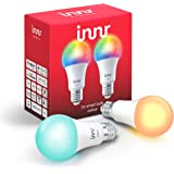 Innr Smart Bulb Colour E27, Works with Philips Hue* / Alexa / Google Assistant (Hub Required) (RB 285C-2)