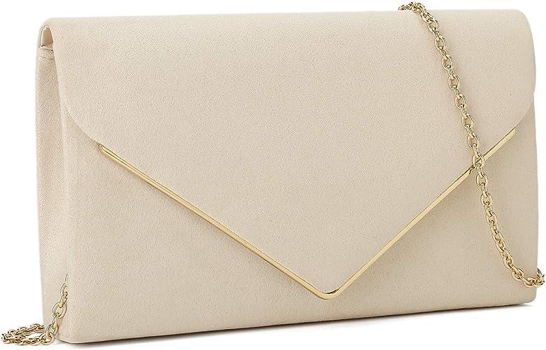 Black Faux Suede Clutch Bag Over Size Cross Body Handbag Evening Bag Wedding Bag