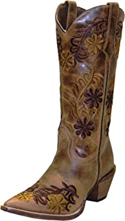 product image for Abilene Women's Rawhide by Boot Floral Cowgirl Pointed Toe