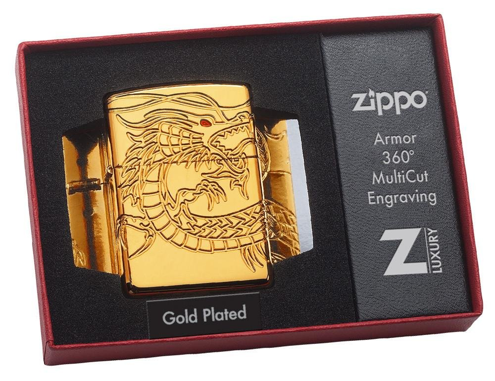 Dragon Armor Heavy Zippo Outdoor Indoor Windproof Lighter Free Custom Personalized Engraved Message Permanent Lifetime Engraving on Backside by Zippo (Image #8)