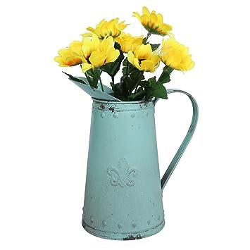 Amazon Com Joqixon French Country Decor Metal Jug Vase