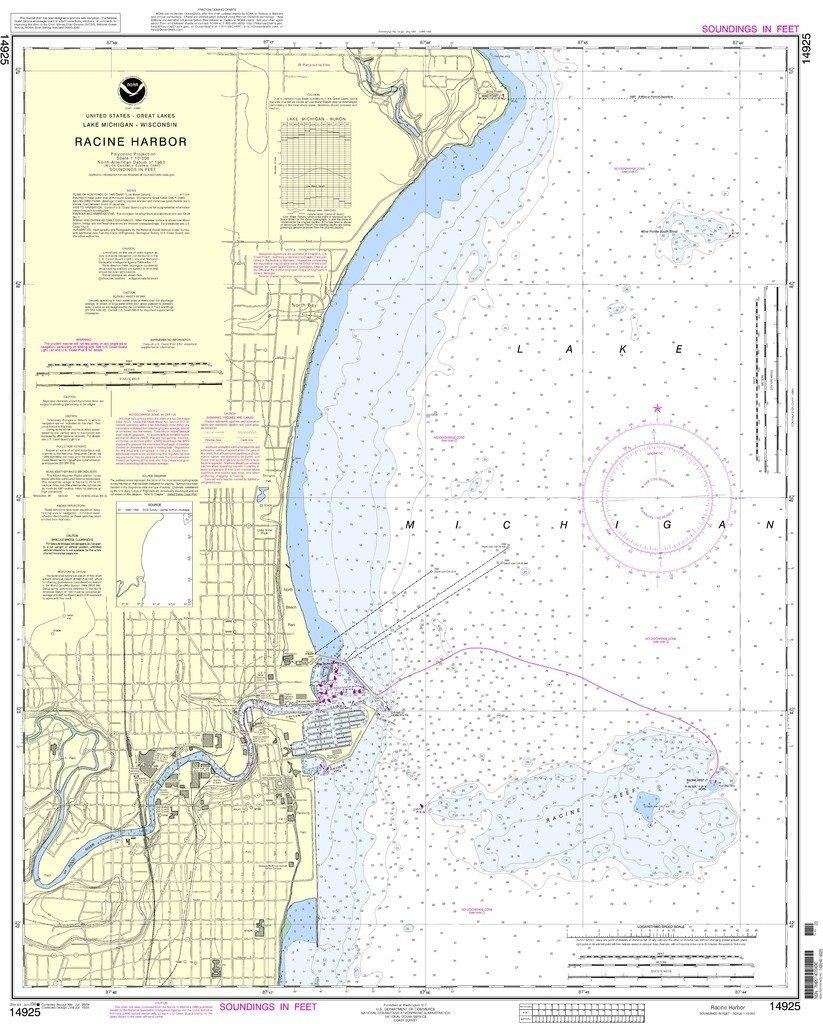 NOAA gráfico 14925: Racine Harbor: Amazon.es: Deportes y ...