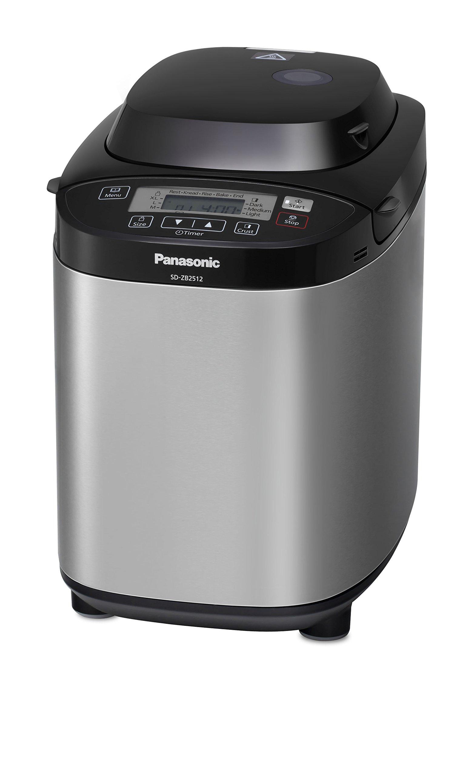 Panasonic SD-ZB2512KXE Panificadora, 550 W, Plateado product image