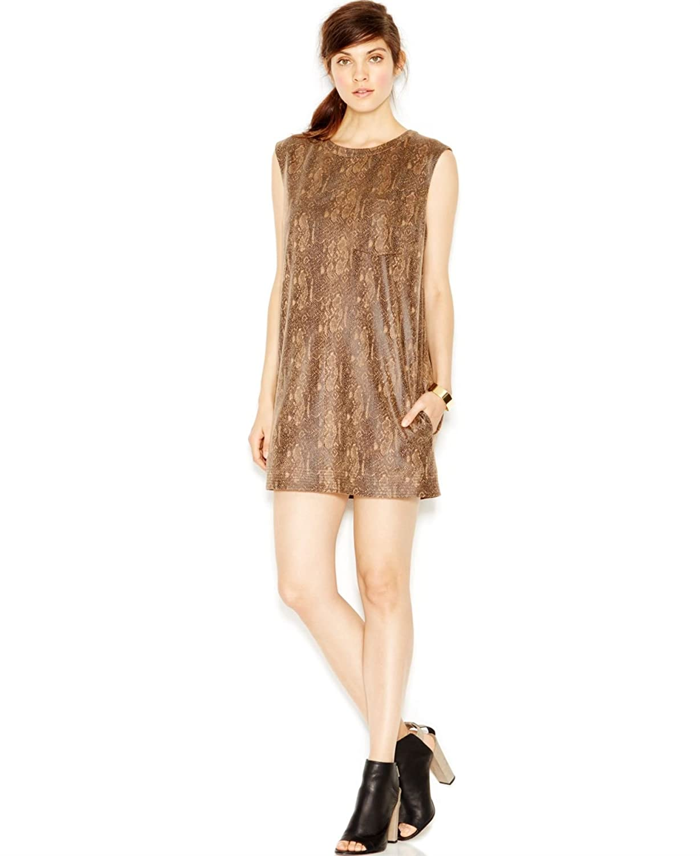 Rachel Rachel Roy Women's Faux-Leather Python-Print Shift Dress