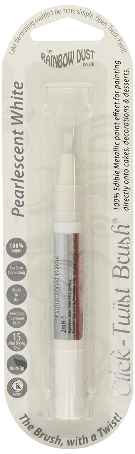 Rainbow Dust Click-Twist Brush - Pearlescent White