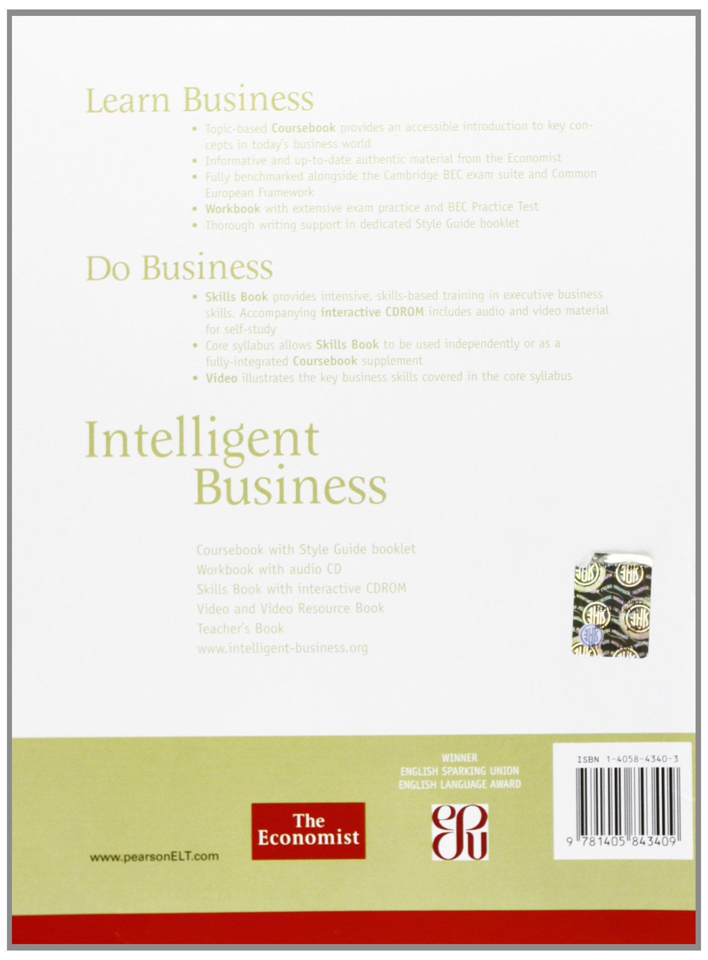 intelligent business intermediate teachers book and test master cd