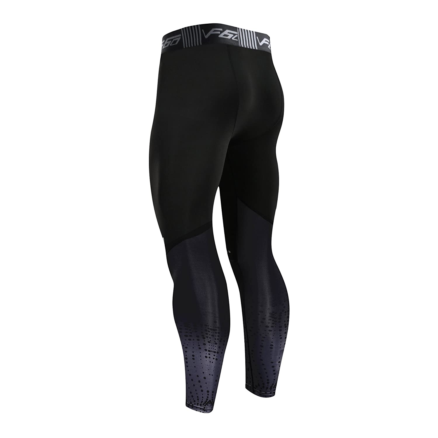 Basketball HURMES Mens Sports Compression Pants Hiking Cool Dry Tights Running Baselayer Workout Leggings for Gym