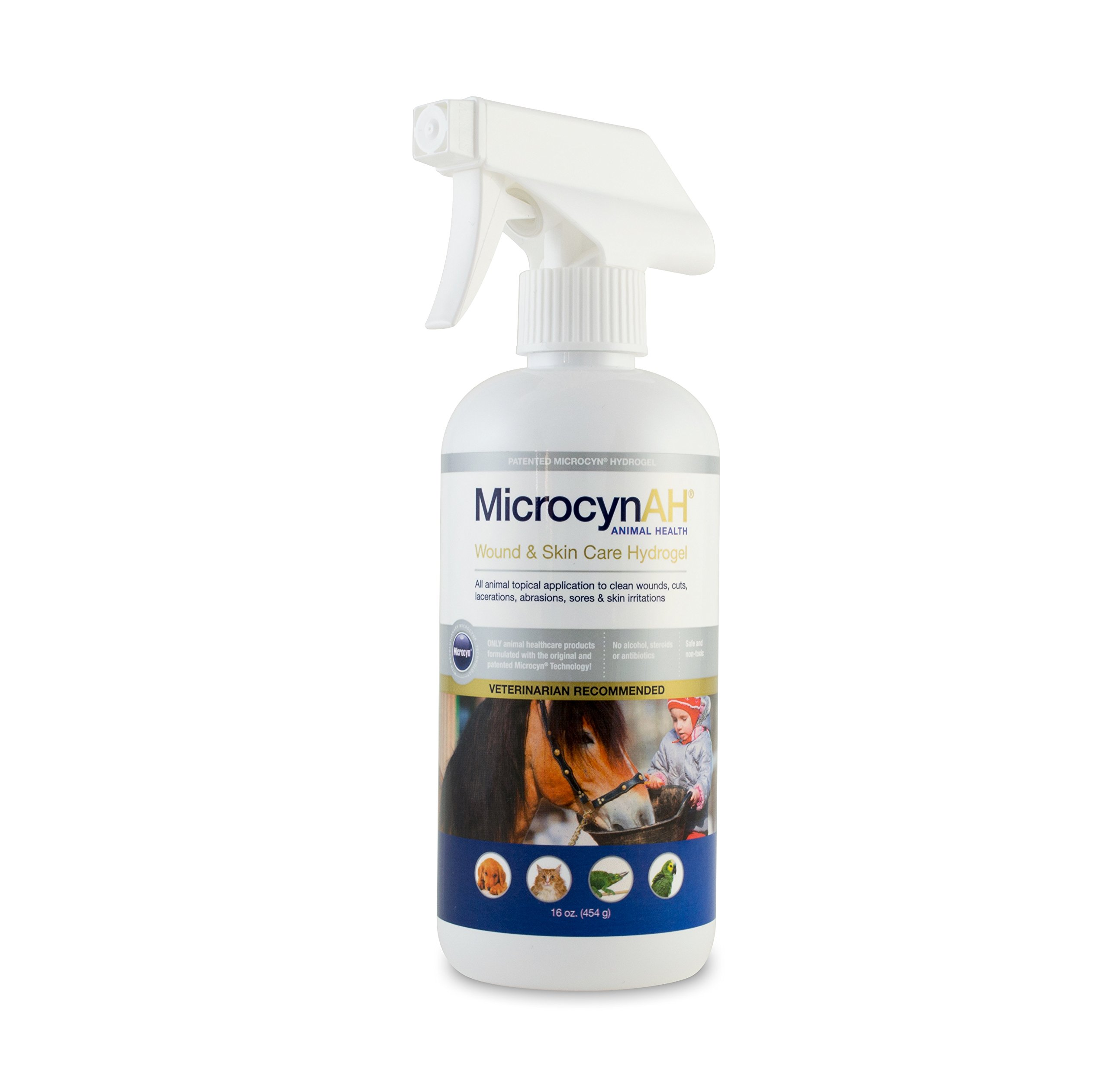 MicrocynAH Wound and Skin Care Sprayable Hydrogel, 16-Ounce